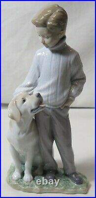 10 Lladro #6902 My Loyal Friend Boy With Dog Figurine With Box