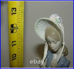 13 Lladro Stepping Out Lady Afghan Hound Dog Figurine 1537 by Juan Huerta