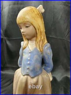 14 LLADRO ROSITA #2085 FIGURINE Blonde GIRL PUPPY DOG & ROSE GRES finish MINT