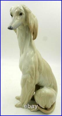 1985 Llardo Afghan Hound Dog Figurine #1069 Mint Condition
