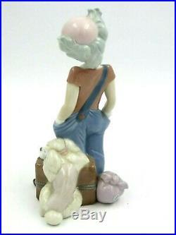 1996 Lladro Event Figurine Big Top Clown with Dog 6245 Mint