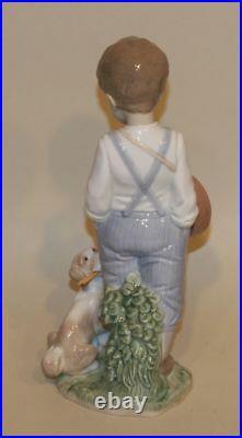 2003 Event Piece Retired Lladro Figurine Friendly Duet 6846 Boy Drum Puppy Dog