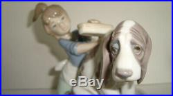 3 Porcelain Lladro Figurine Who's The Fairest Girl Dog Bath Bashful Signed Lot