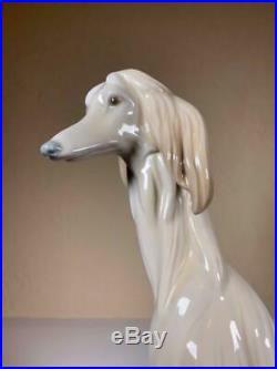 AFGHAN HOUND DOG - LLADRO - Porcelain Retired Figurine #1069