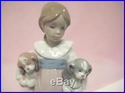 Arms Full Of Love Female With Dogs By Lladro #6419