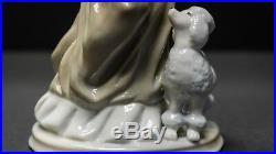 Beautiful Woman With Dog Poodle Doodle Porcelain Figurine 10 Pastel Colors