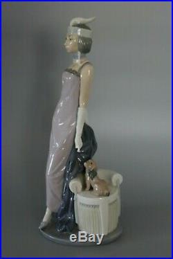 Boxed Lladro 5174 Roaring Twenties Couplet Lady & Dog Flapper Figure VGC