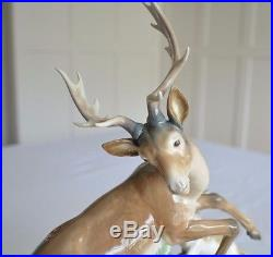 Buck Hunted deer dogs hounds Lladro #1238 SIGNED No. 432 RARE huge c1974