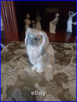 Charming Lladro Pekingese Dog Very Fine Porcelain Figurine Sweet Face