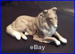 DALIA Porcelain COLLIE Dog Lladro Style Beautiful Detail Made In Mexico 7 L