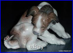 Dog & Butterfly Lladro Figurine #4917 Cute Dog With Butterfly On His Tail GIFT