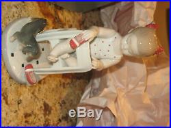 FETCH MY SHOE BY LLADRO With original Box #8524 Little girl with puppy dog L@@K