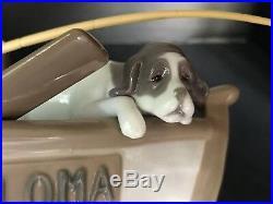Fine LLADRO Jose Puche 5215 Fishing w Gramps Dog Boy Paloma Boat 16 Sculpture