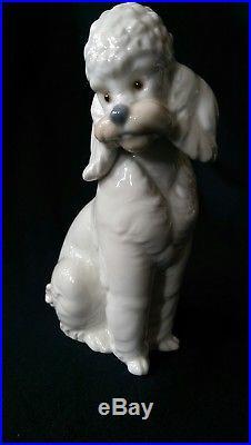 French POODLE 1985 LLADRO Retired NAO Jose Roig VTG White Dog Porcelain Figurine