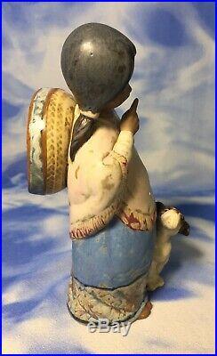HTF 7 Lladro Chiquita Hispanic Girl & Dog Gres Porcelain Figurine #2165 EVC