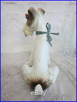 Hispania Daisa (Lladro) Large Ceramic Fox Terrier Dog #3331 Figurine Figure 1984