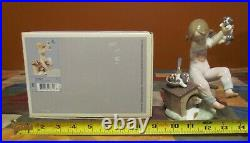 IMPRESSIVE LLADRO #7621 PICK OF THE LITTER CHILD & DOGS-RETIRED/MINT- with O. B
