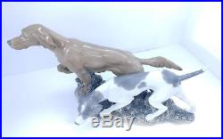 LARGE 20 Retired 1981 LLADRO #4957 Hunting Dogs Irish Setter Hound Statue Dog