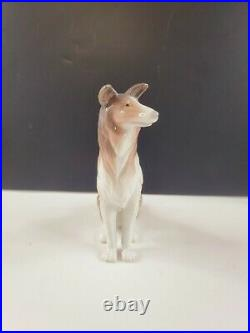 LLADRO #1316 Collie Glazed with 1971 1974 Marking First Year Issue