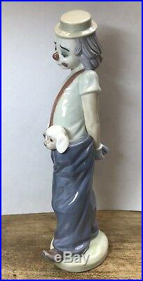 LLADRO 1985 Collectors Society Figurine LITTLE PALS CLOWN DOGS #7600 FIRST ISSUE