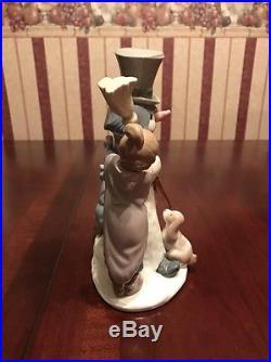 LLADRO 1989 Snowman Girl Boy Dog Figurine 5713 MINT
