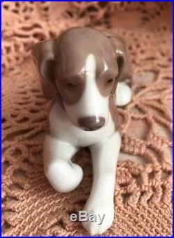 LLADRO 5349 Relaxing Dog Mint! No Box! Rare! Retired 27 years ago! Great Gift