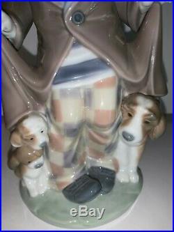 LLADRO 5901 Surprisse figurine Clown with Dog & Puppies no box