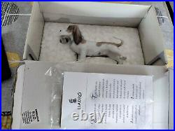 LLADRO 6398'Morning Delivery' Bassett Dog with Newspaper Mint Boxed/ Paperwork