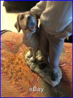 LLADRO #6902 My Loyal Friend / Boy And His Labrador Dog 10 Tall/ Pristine