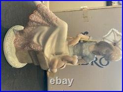 LLADRO # 7612 Mint Condition Women with Dog and Parasol Original Box