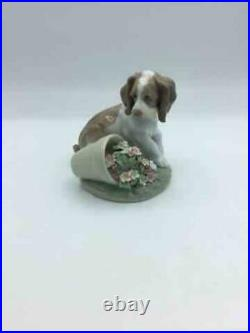 LLADRO #7672'It WASN'T Me DOG & Flower POT 1998 Collector's PIECE ORIGINAL Box