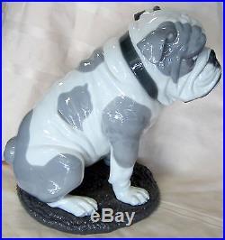 Lladro #9234 Bulldog With Lollipop Brand New In Box Dog Animal Candy Save$ F/sh