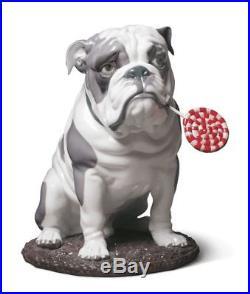 LLADRO 9234 Bulldog with Lollipop Dog Figurine 01009234 Used