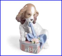LLADRO CAN'T WAIT BRAND NEW IN BOX 8312 MSRP $340 Puppy Dog With Gift CUTE