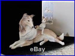 LLADRO COLLIE DOG with PUPPY #6459 Mint in Box Retired