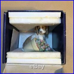 LLADRO Collectors Series 7672 Travesura It Wasn't Me Dog Flowerpot New in Box