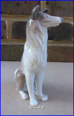 LLADRO Collie Dog Figurine 1316