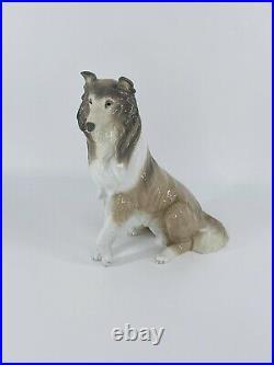 LLADRO Collie Dog Figurine, #6455, 1997 Excellent