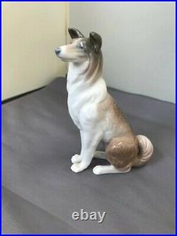 LLADRO Collie Dog Shepherd Dog 1316 VERY RARE RETIRED Mint Condition Free Ship