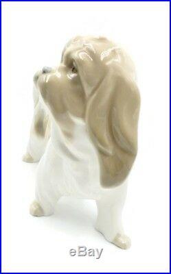 LLADRO Dog Porcelain LHASA APSO/TIBETAN TERRIER Mostachos FIGURINE MINT RETIRED