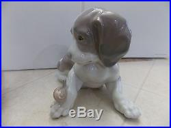LLADRO. Dog and Snail. Retired 1981 and Authentic. 6