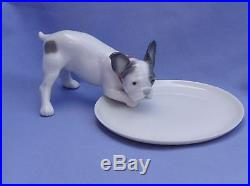 LLADRO FRENCH BULLDOG. Limited edition. Sold Out Porcelain Figurine