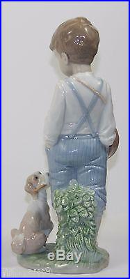 LLADRO FRIENDLY DUET #6846 FIGURINE BOY WithDRUM AND DOG MINT WithBOX