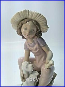 LLADRO FRIENDS FOREVER 1999 Event Figurine PORCELAIN 6680, Girl and Dog C-6JU