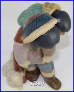 LLADRO FROSTY OUTING #2236 FIGURE ESKIMO GIRL WithBABY & DOG GRES PERFECT