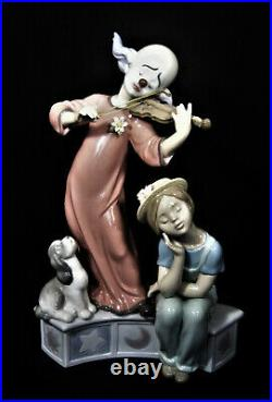 LLADRO Figurine Figure MUSIC FOR A DREAM #6900 Clown with Fiddle, Girl & Dog