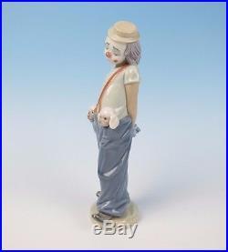 LLADRO Figurine LITTLE PALS #7600 BOX Retired Collectors Society Clown Puppy Dog