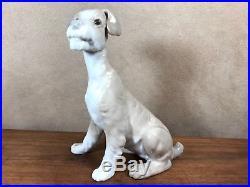 LLADRO Fulgencio Garcia TERRIER Dog Large 8 Sitting #4583 retired 1980