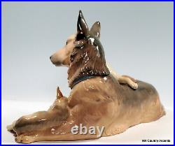 LLADRO GERMAN SHEPHERD With PUPPIES 6454 PERFECT CONDITION $790 MSRP MINT