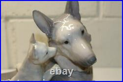 LLADRO German Shepherd with Puppies, #6454, Excellent Condition, 1997